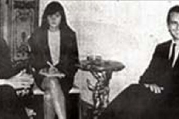 Paula Queiroz e Giulio Andreotti