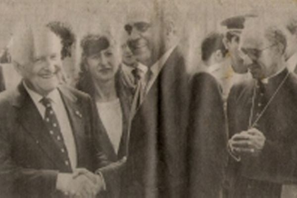 Paula Queiroz e Presidente Oscar Luigi Scalfaro